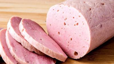 Вареная колбаса из мяса гуся