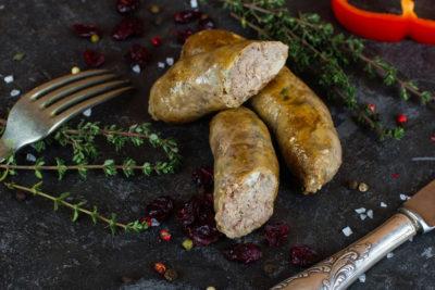 Колбаски пряные из мяса уток