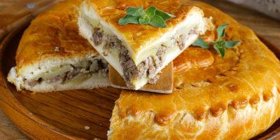 Пирог из мяса кабана